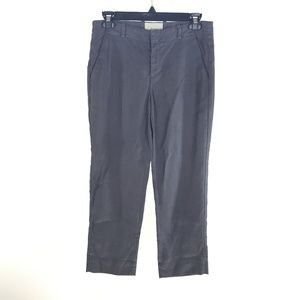 Anthropologie Elevenses Gray Cropped Pants